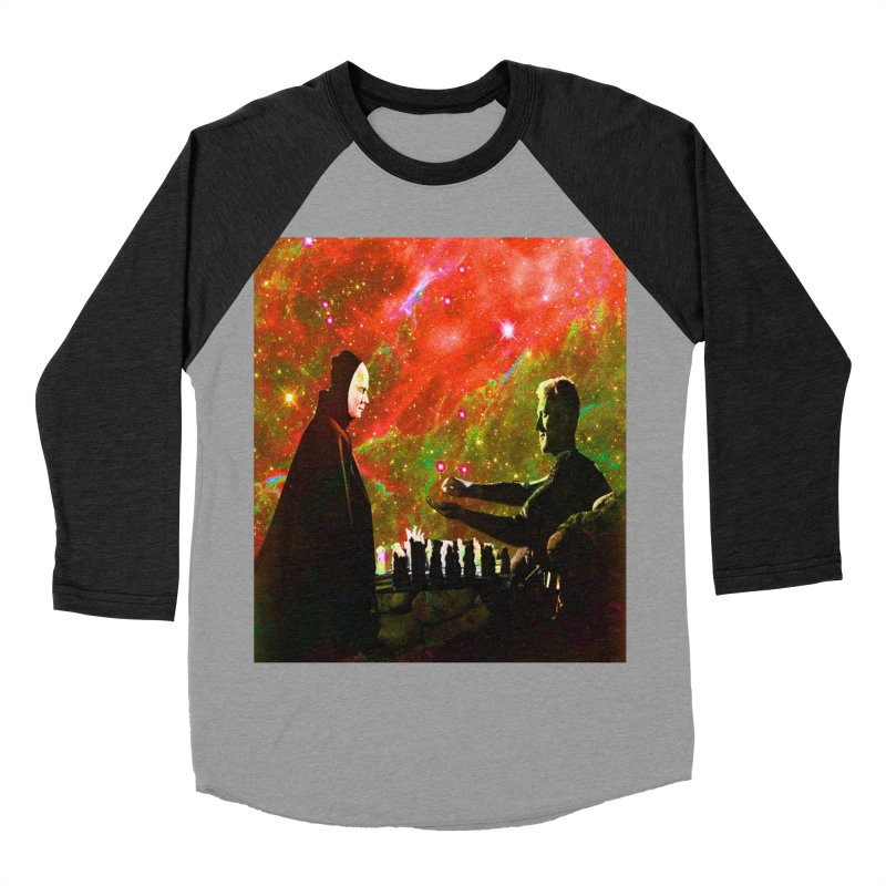 Playing chess with Death Women's Baseball Triblend Longsleeve T-Shirt by Matthew Lacey-icarusismartdesigns