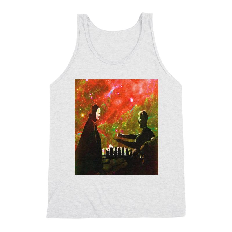 Playing chess with Death Men's Tank by Matthew Lacey-icarusismartdesigns