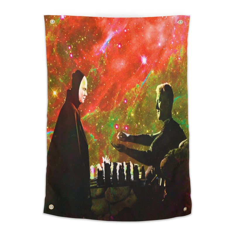Playing chess with Death Home Tapestry by Matthew Lacey-icarusismartdesigns