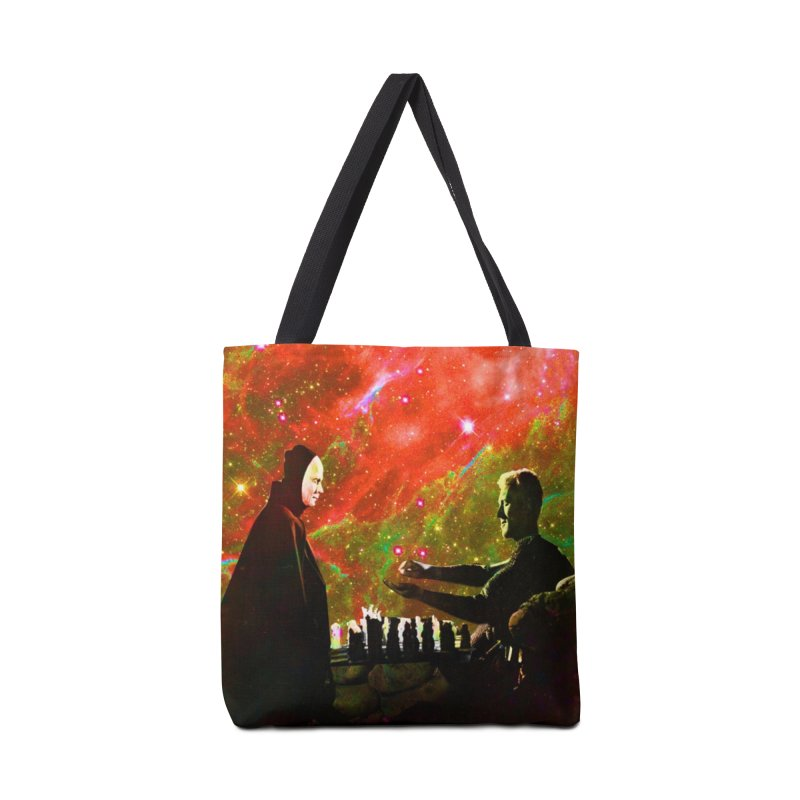 Playing chess with Death Accessories Tote Bag Bag by Matthew Lacey-icarusismartdesigns