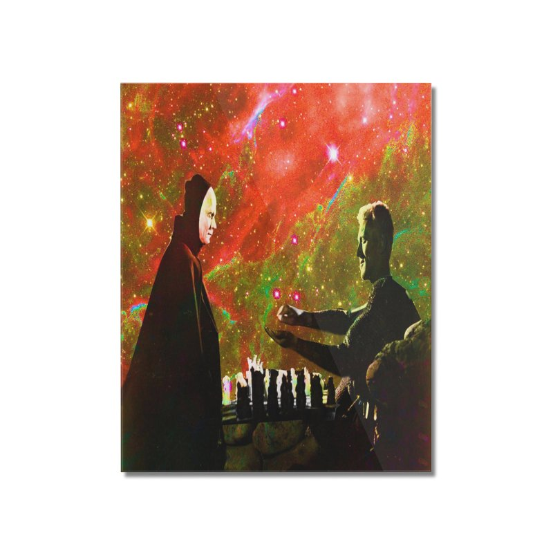Playing chess with Death Home Mounted Acrylic Print by Matthew Lacey-icarusismartdesigns