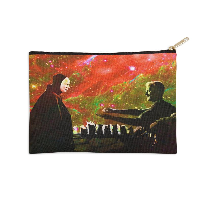 Playing chess with Death Accessories Zip Pouch by Matthew Lacey-icarusismartdesigns