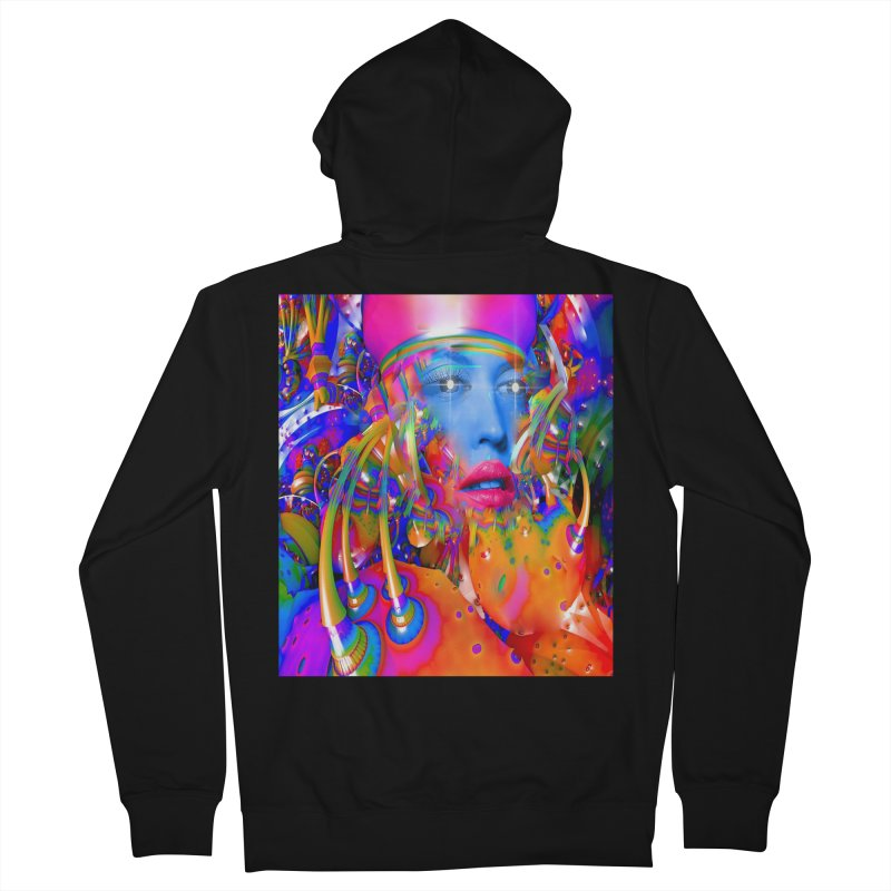 Organic Machine Women's French Terry Zip-Up Hoody by Matthew Lacey-icarusismartdesigns
