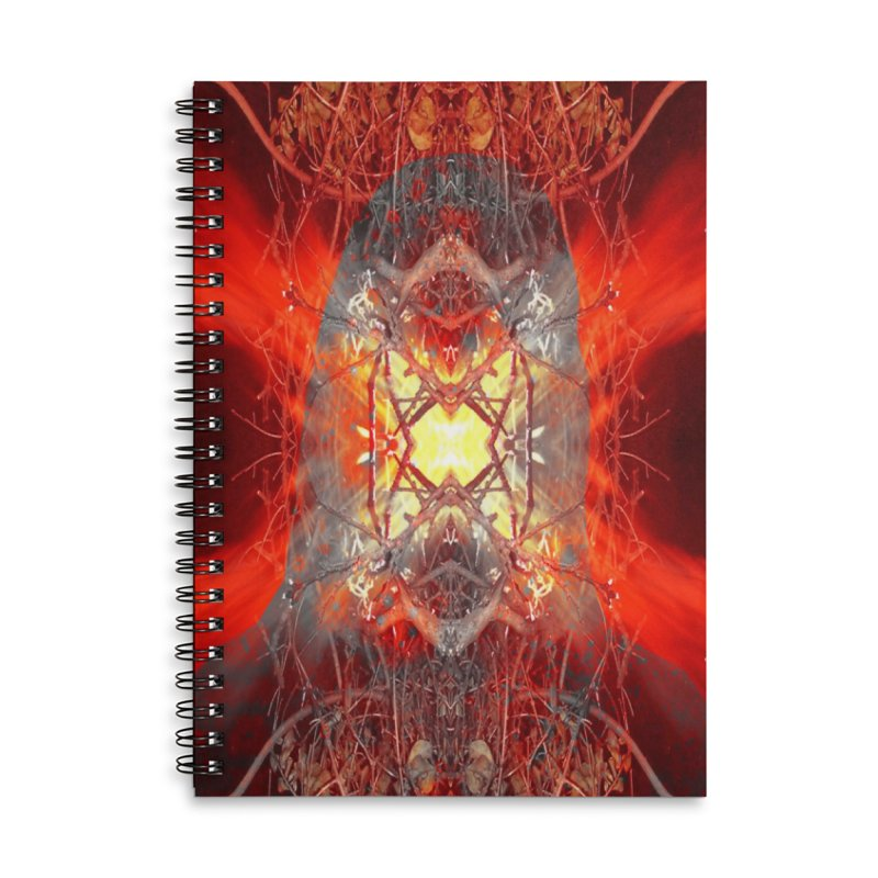 Spontaneous human combustion Accessories Lined Spiral Notebook by Matthew Lacey-icarusismartdesigns