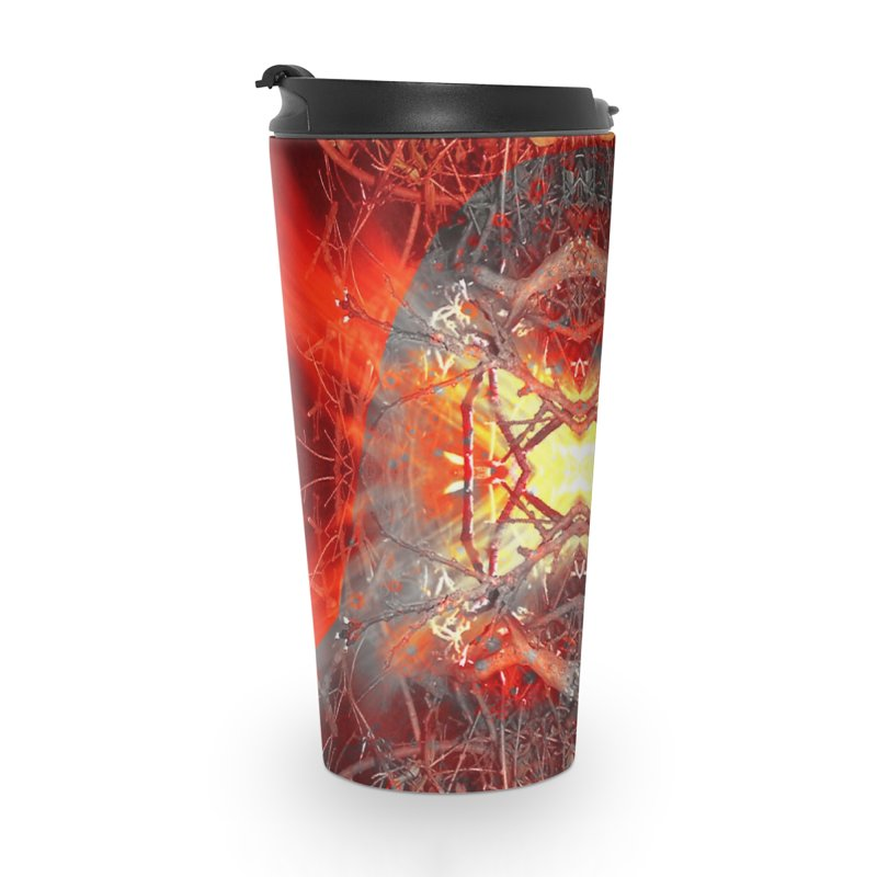 Spontaneous human combustion Accessories Travel Mug by Matthew Lacey-icarusismartdesigns