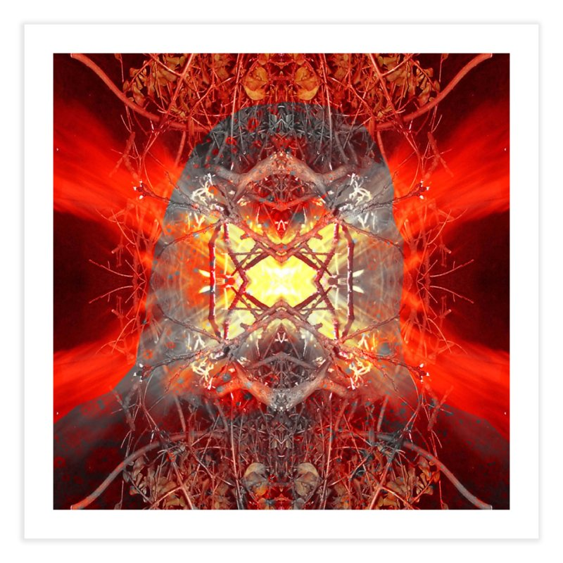 Spontaneous human combustion Home Fine Art Print by Matthew Lacey-icarusismartdesigns