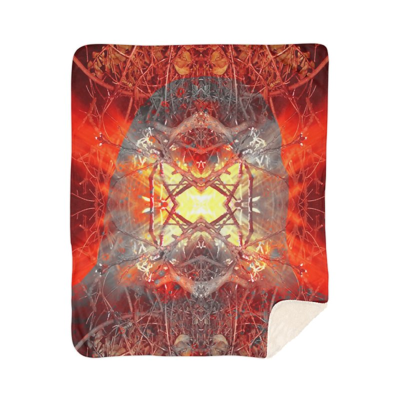 Spontaneous human combustion Home Sherpa Blanket Blanket by Matthew Lacey-icarusismartdesigns