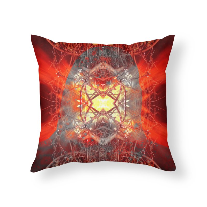 Spontaneous human combustion Home Throw Pillow by Matthew Lacey-icarusismartdesigns