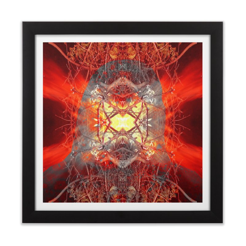 Spontaneous human combustion Home Framed Fine Art Print by Matthew Lacey-icarusismartdesigns