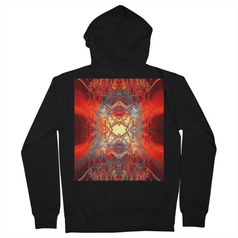 Spontaneous human combustion Women's Zip-Up Hoody by Matthew Lacey-icarusismartdesigns