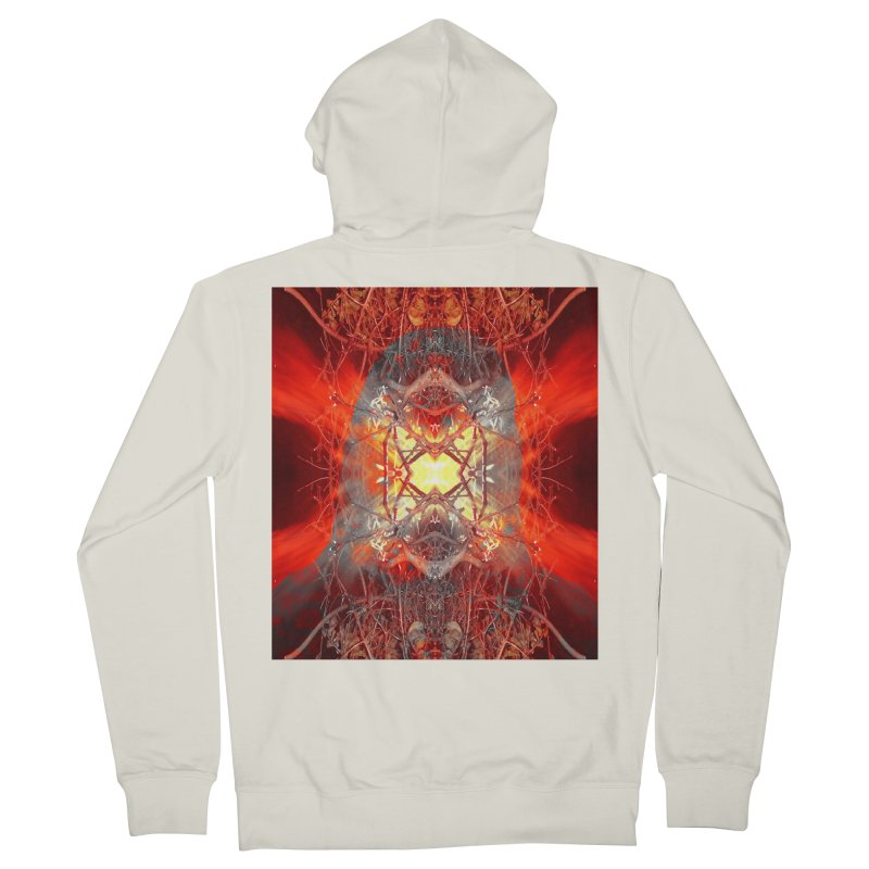 Spontaneous human combustion Women's French Terry Zip-Up Hoody by Matthew Lacey-icarusismartdesigns