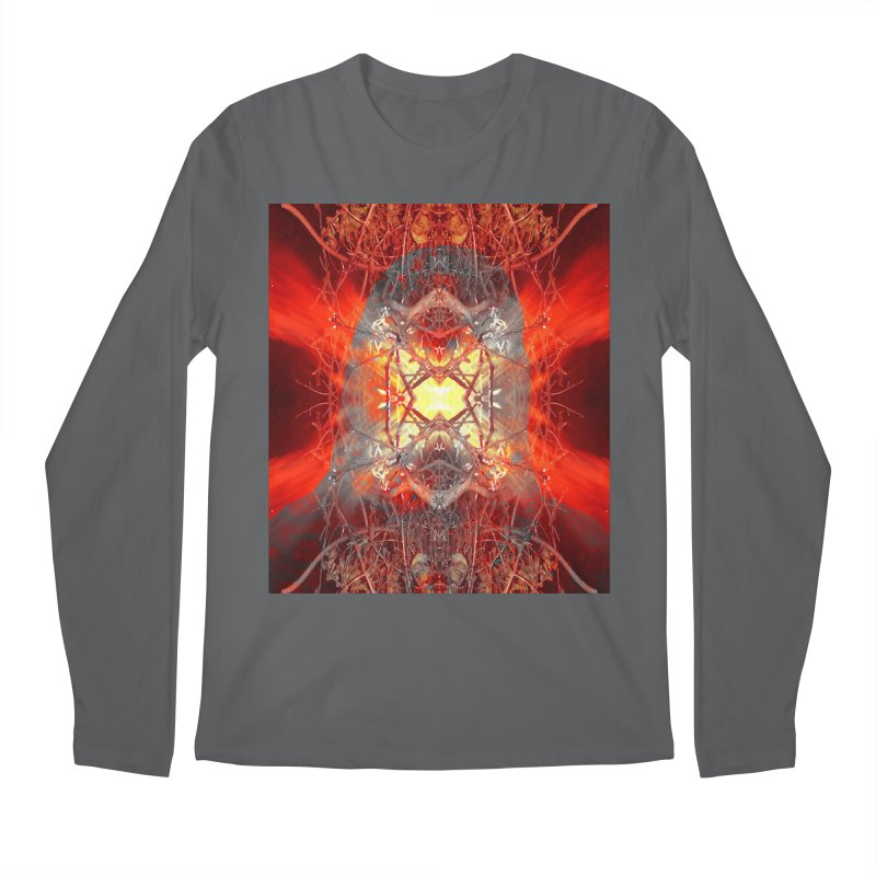 Spontaneous human combustion Men's Regular Longsleeve T-Shirt by Matthew Lacey-icarusismartdesigns
