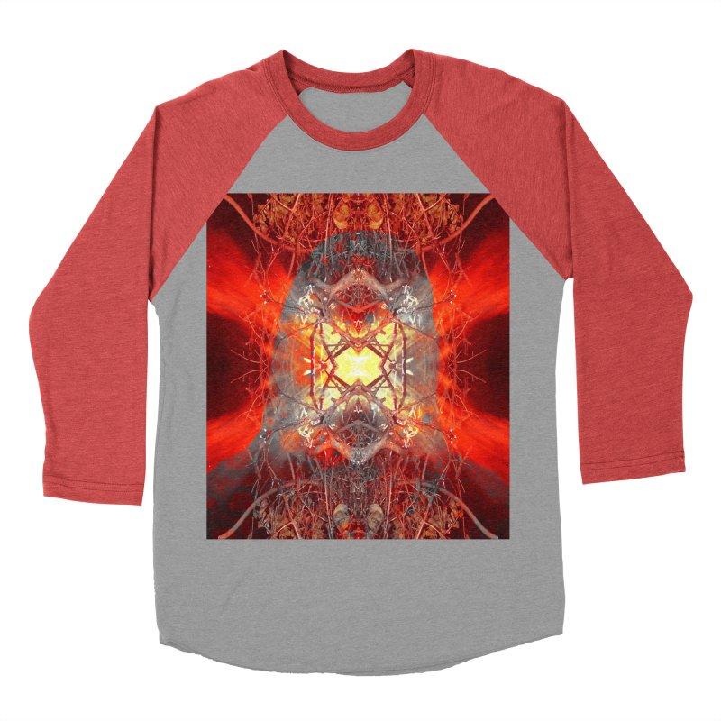 Spontaneous human combustion Women's Baseball Triblend Longsleeve T-Shirt by Matthew Lacey-icarusismartdesigns