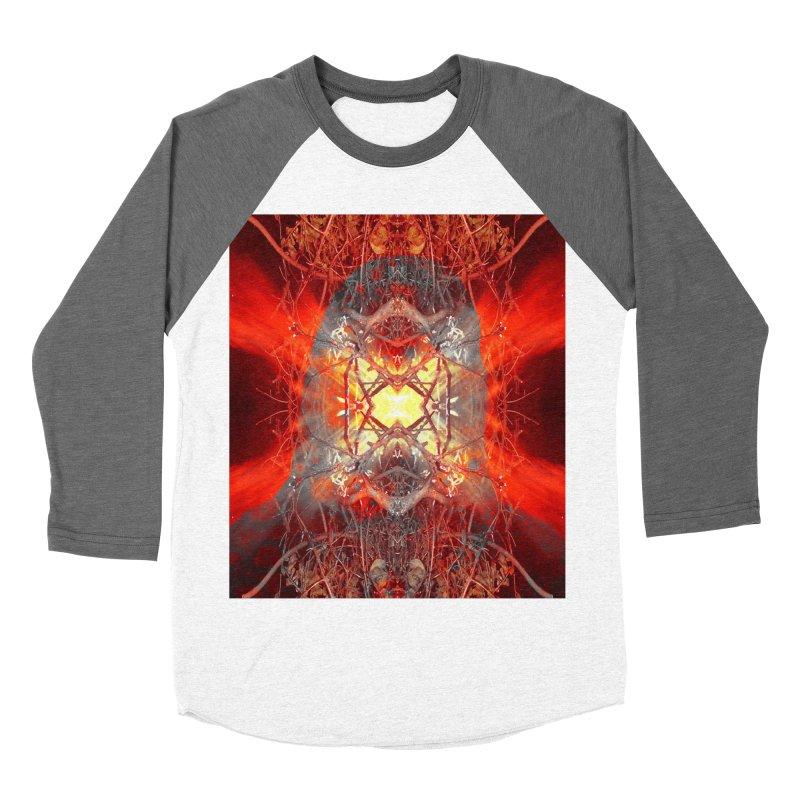 Spontaneous human combustion Men's Baseball Triblend Longsleeve T-Shirt by Matthew Lacey-icarusismartdesigns