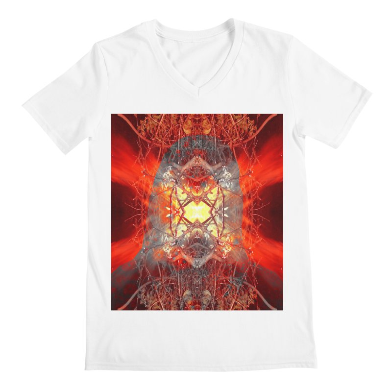 Spontaneous human combustion Men's V-Neck by Matthew Lacey-icarusismartdesigns