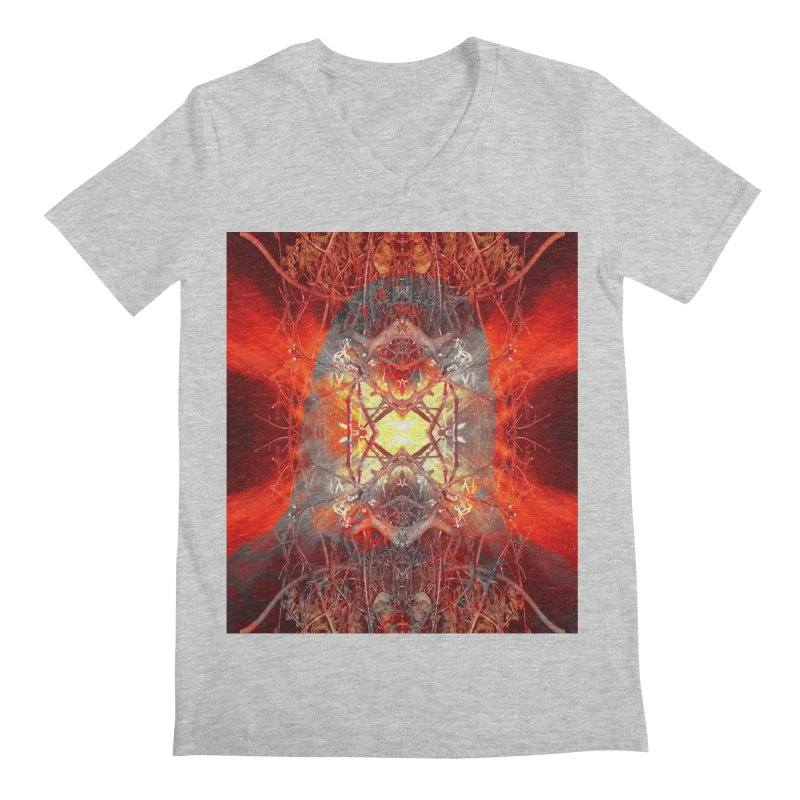 Spontaneous human combustion Men's Regular V-Neck by Matthew Lacey-icarusismartdesigns