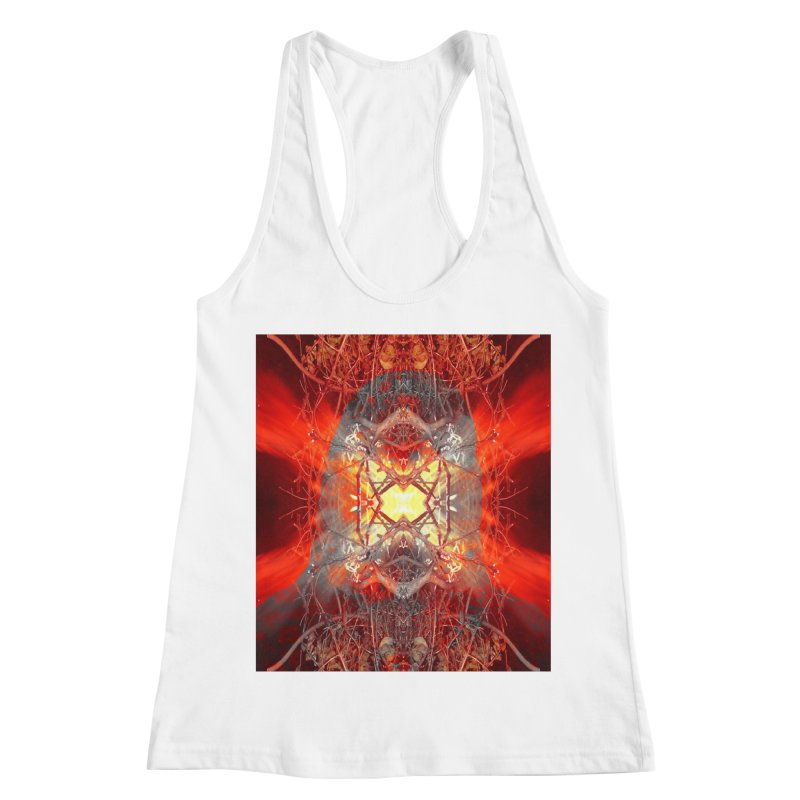 Spontaneous human combustion Women's Racerback Tank by Matthew Lacey-icarusismartdesigns
