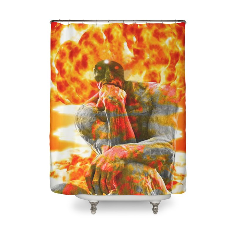 Brainstorm Home Shower Curtain by Matthew Lacey-icarusismartdesigns