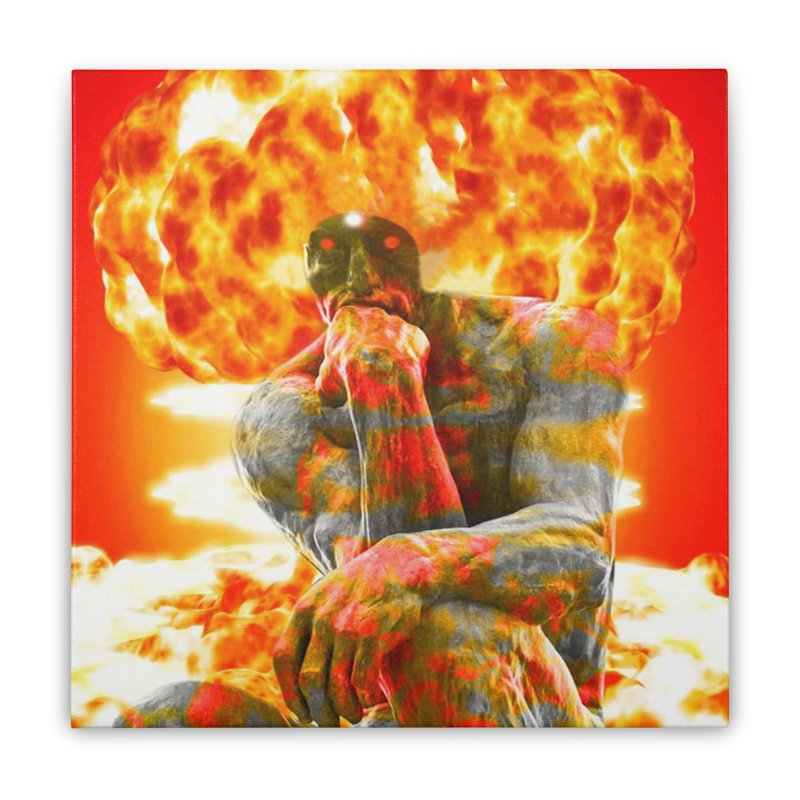 Brainstorm Home Stretched Canvas by Matthew Lacey-icarusismartdesigns