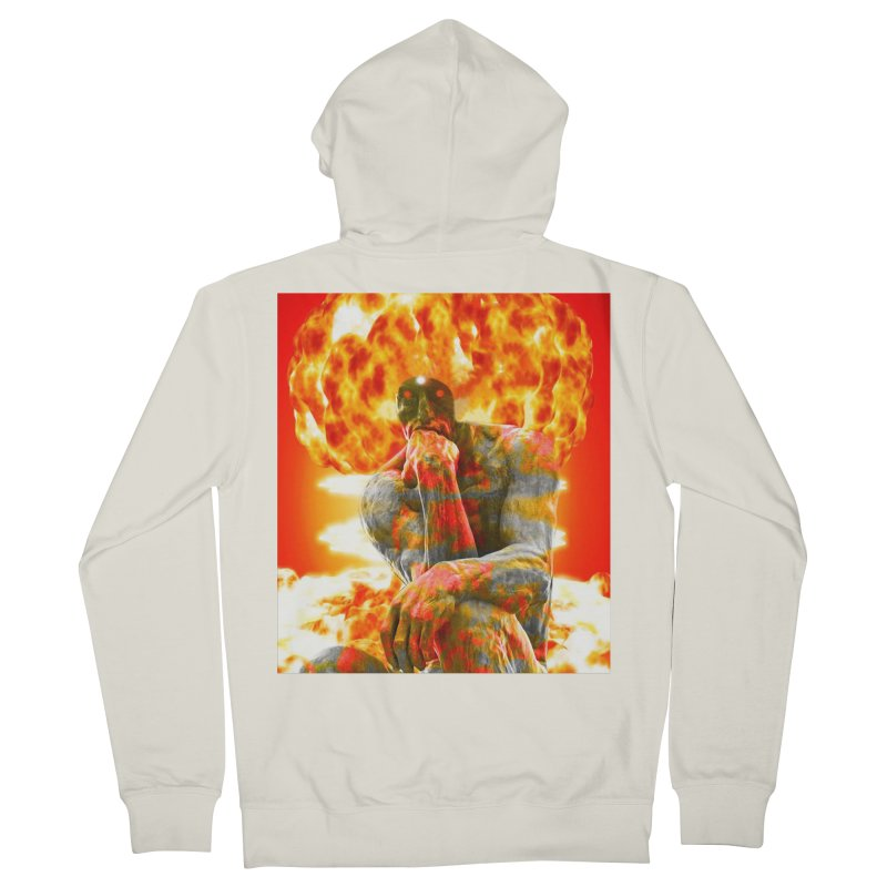 Brainstorm Women's French Terry Zip-Up Hoody by Matthew Lacey-icarusismartdesigns