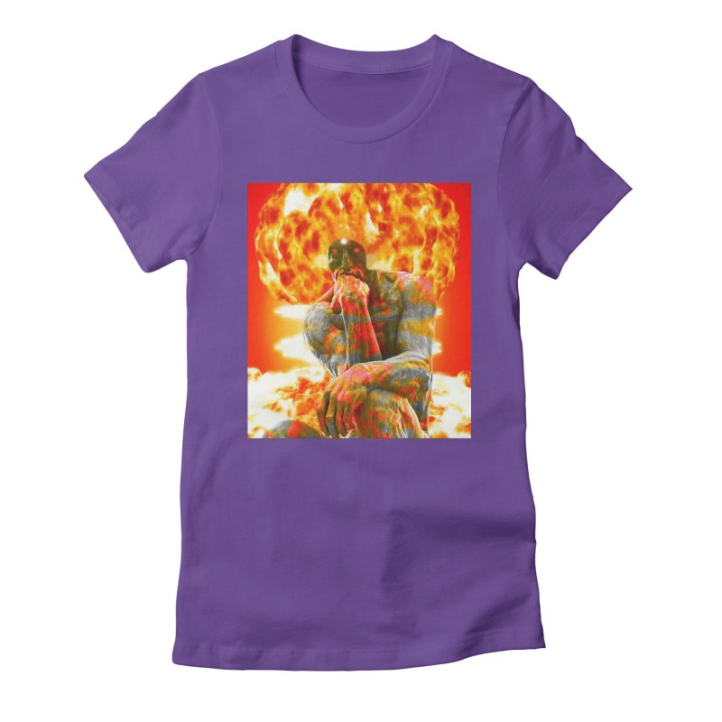 Brainstorm Women's Fitted T-Shirt by Matthew Lacey-icarusismartdesigns