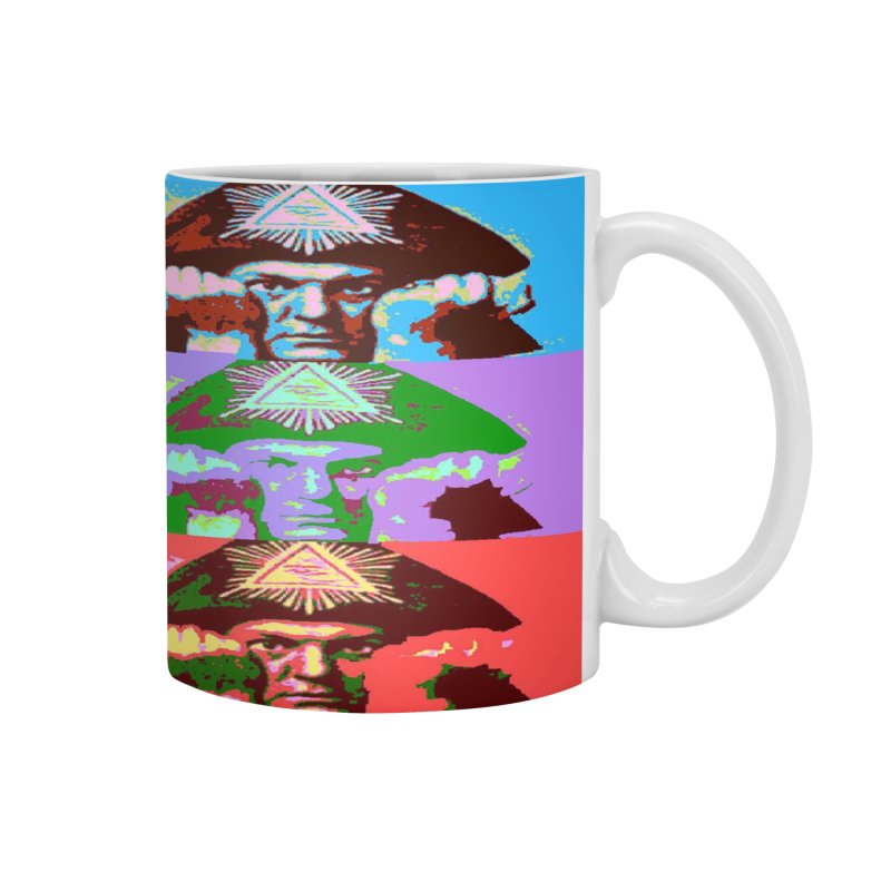 Aleister Crowley Pop Art Accessories Mug by Matthew Lacey-icarusismartdesigns