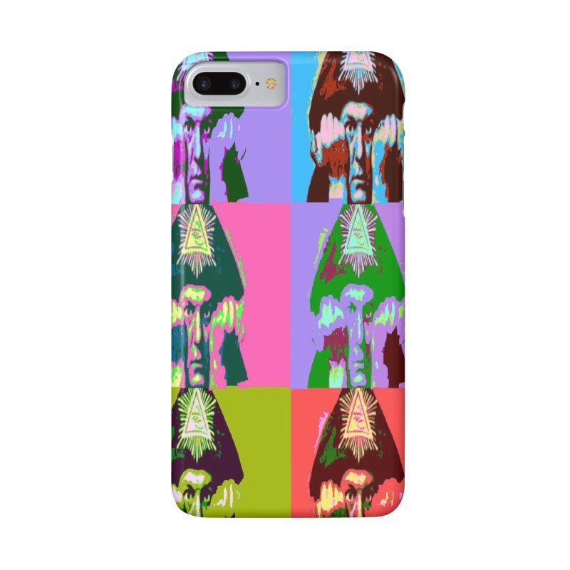 Aleister Crowley Pop Art Accessories Phone Case by Matthew Lacey-icarusismartdesigns