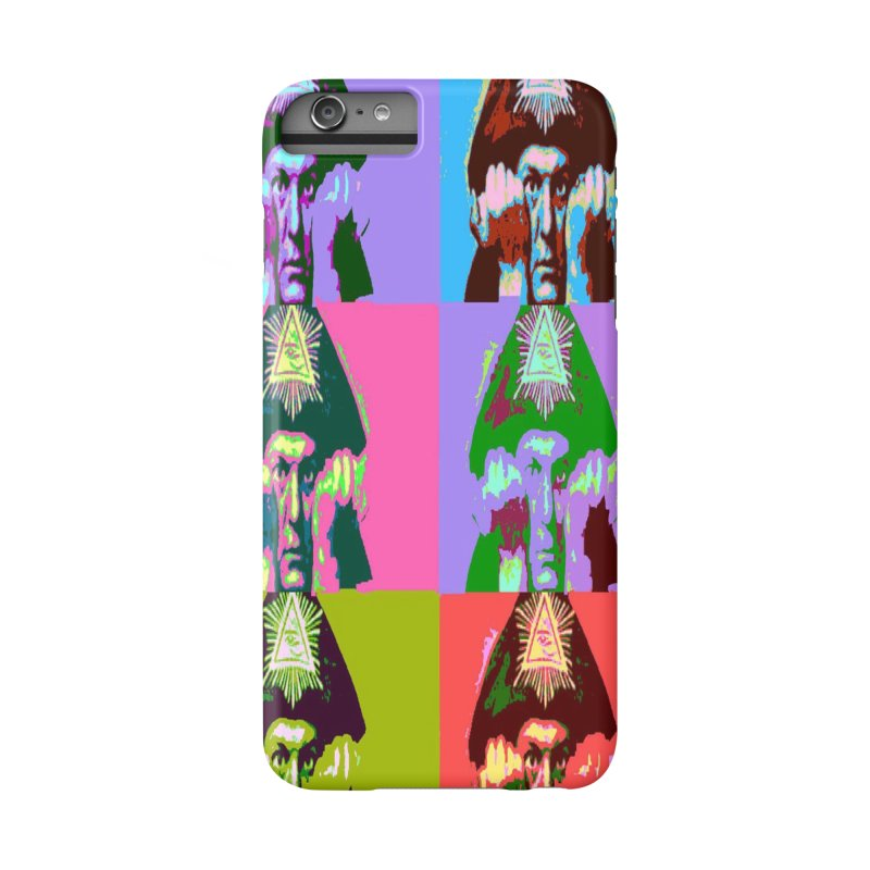 Aleister Crowley Pop Art Accessories Phone Case by Matthew Lacey-icarusismartdesigns