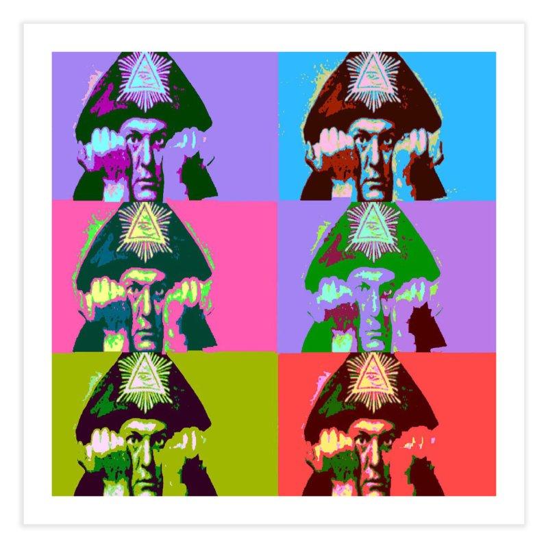 Aleister Crowley Pop Art Home Fine Art Print by Matthew Lacey-icarusismartdesigns