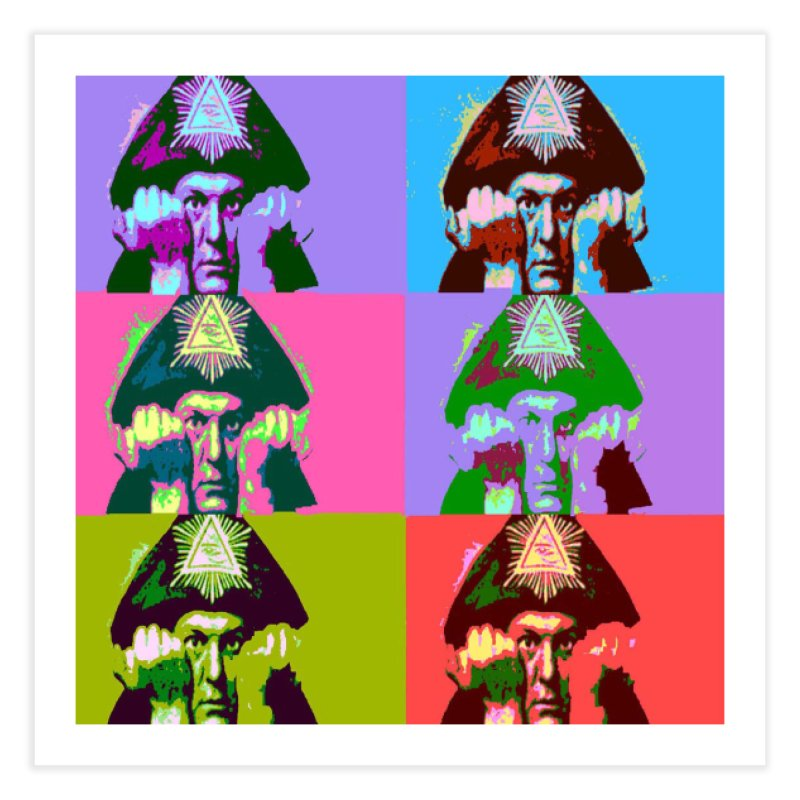 Aleister Crowley Pop Art Home Fine Art Print by Matthew Lacey-icarusismartdesigns
