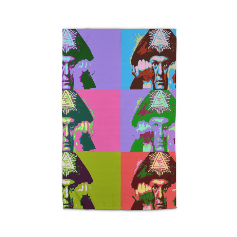 Aleister Crowley Pop Art Home Rug by Matthew Lacey-icarusismartdesigns