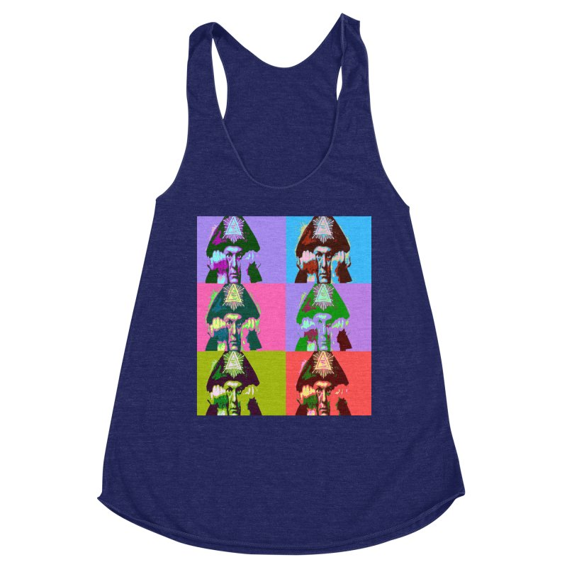 Aleister Crowley Pop Art Women's Tank by Matthew Lacey-icarusismartdesigns