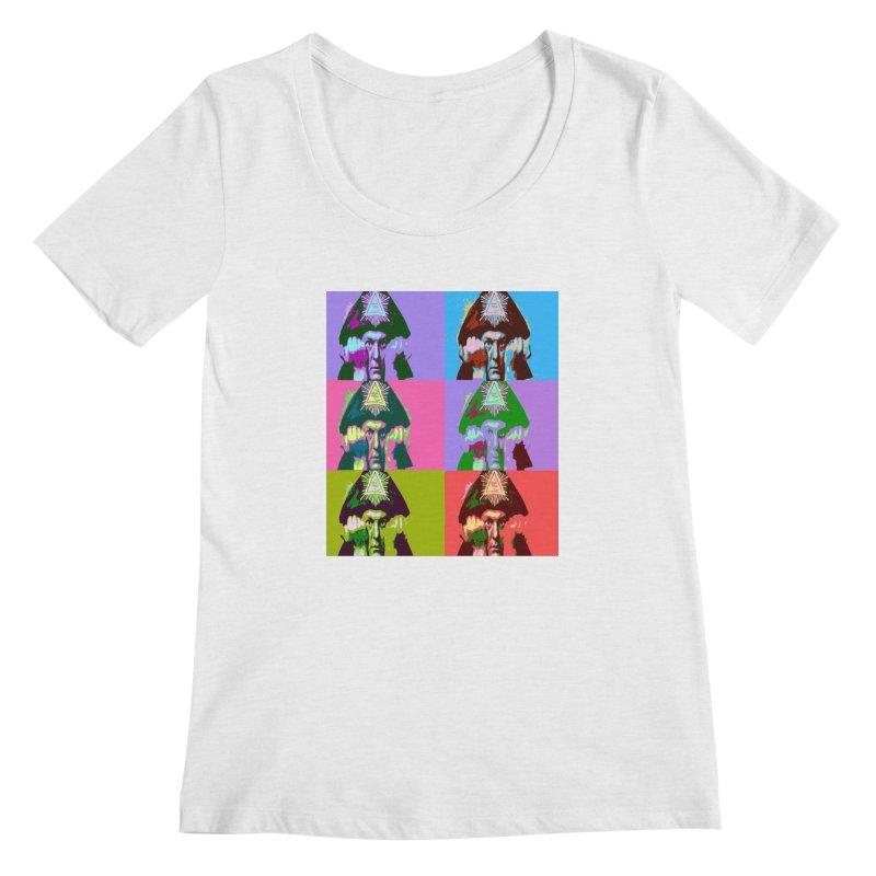 Aleister Crowley Pop Art Women's Regular Scoop Neck by Matthew Lacey-icarusismartdesigns