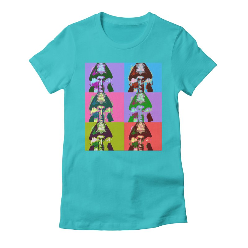 Aleister Crowley Pop Art Women's T-Shirt by Matthew Lacey-icarusismartdesigns