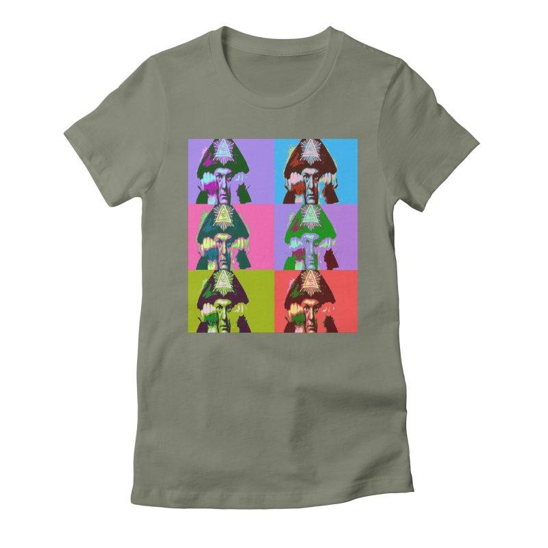 Aleister Crowley Pop Art Women's T-Shirt by Matthew Lacey-icarusismartdesigns