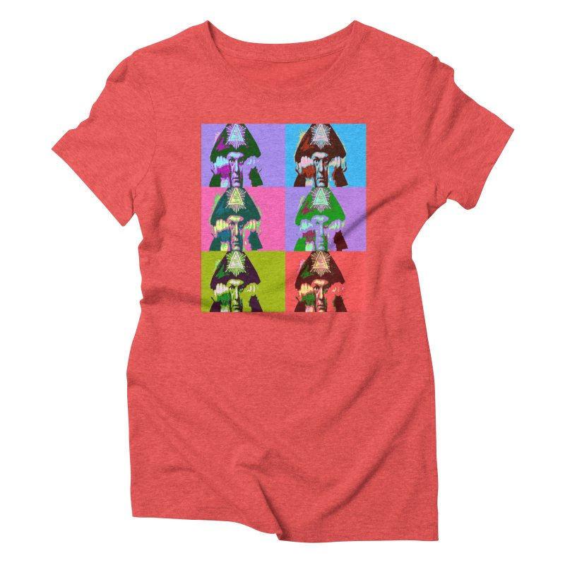 Aleister Crowley Pop Art Women's Triblend T-Shirt by Matthew Lacey-icarusismartdesigns