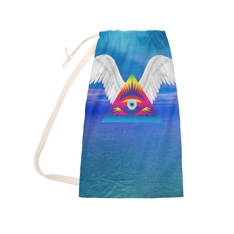 Third Eye with Wings Accessories Laundry Bag Bag by Matthew Lacey-icarusismartdesigns