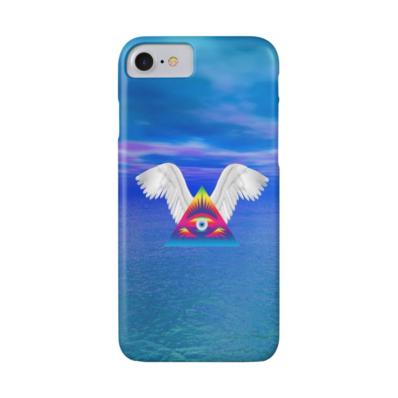 Third Eye with Wings Accessories Phone Case by Matthew Lacey-icarusismartdesigns