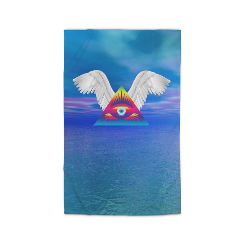 Third Eye with Wings Home Rug by Matthew Lacey-icarusismartdesigns