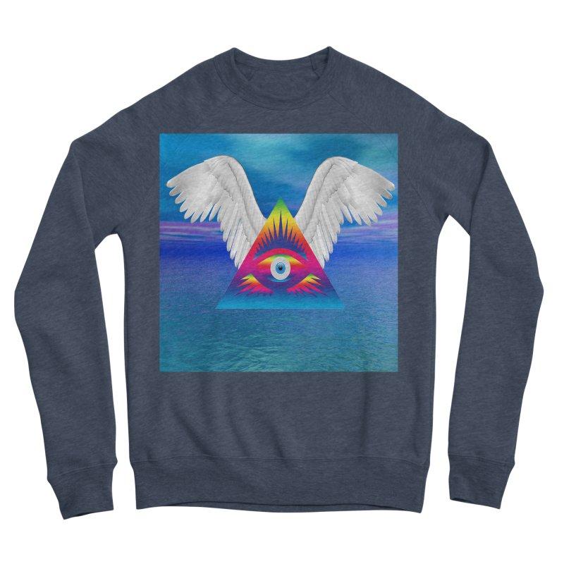 Third Eye with Wings Women's Sweatshirt by Matthew Lacey-icarusismartdesigns