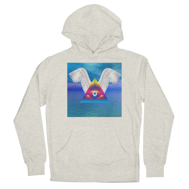 Third Eye with Wings Men's Pullover Hoody by Matthew Lacey-icarusismartdesigns
