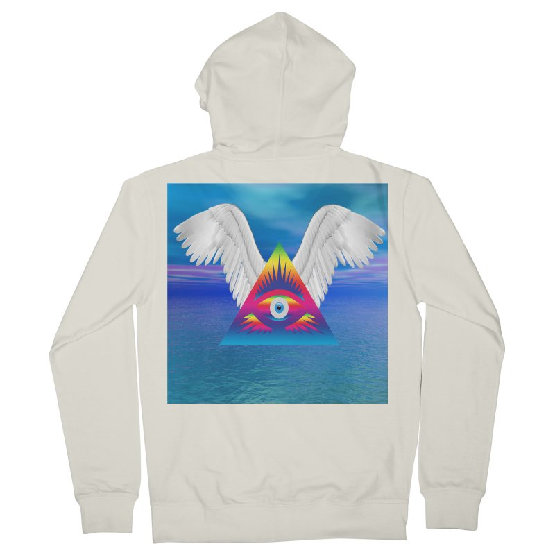 Third Eye with Wings Men's French Terry Zip-Up Hoody by Matthew Lacey-icarusismartdesigns