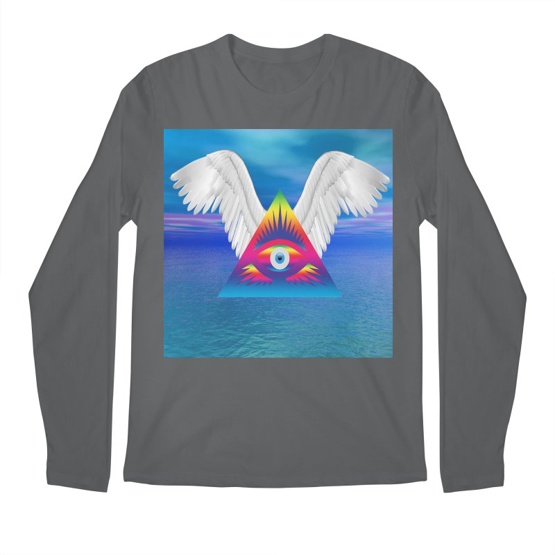 Third Eye with Wings Men's Longsleeve T-Shirt by Matthew Lacey-icarusismartdesigns