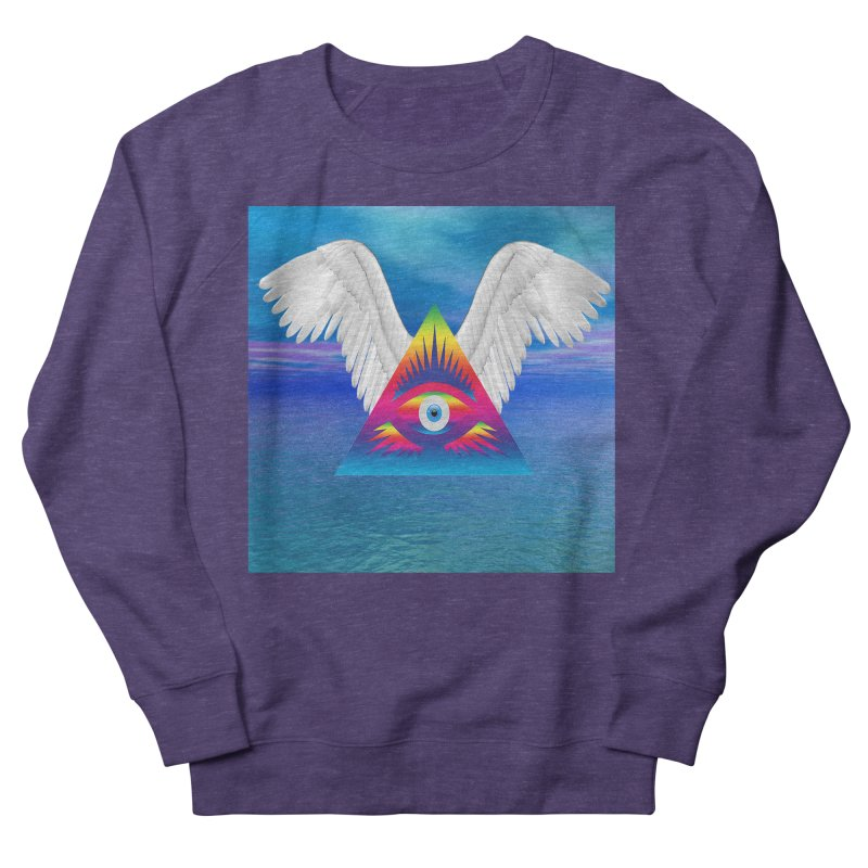 Third Eye with Wings Women's French Terry Sweatshirt by Matthew Lacey-icarusismartdesigns