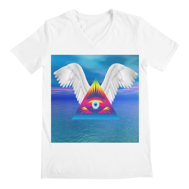 Third Eye with Wings Men's V-Neck by Matthew Lacey-icarusismartdesigns