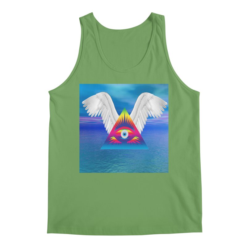 Third Eye with Wings Men's Tank by Matthew Lacey-icarusismartdesigns