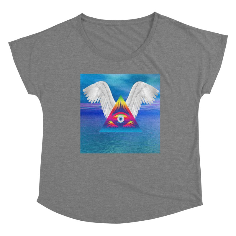Third Eye with Wings Women's Scoop Neck by Matthew Lacey-icarusismartdesigns