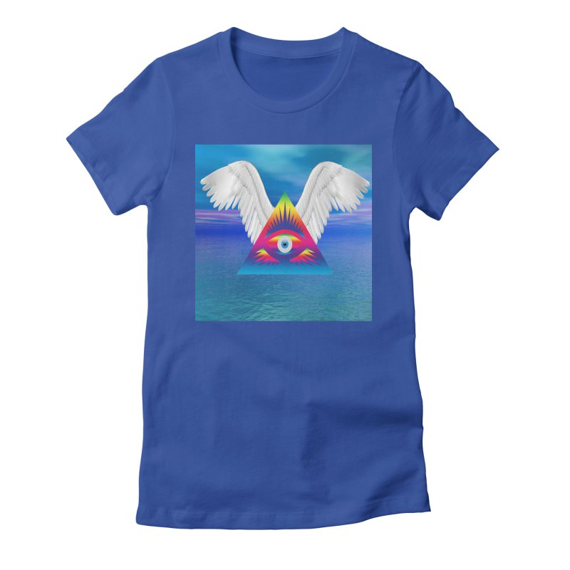 Third Eye with Wings Women's T-Shirt by Matthew Lacey-icarusismartdesigns