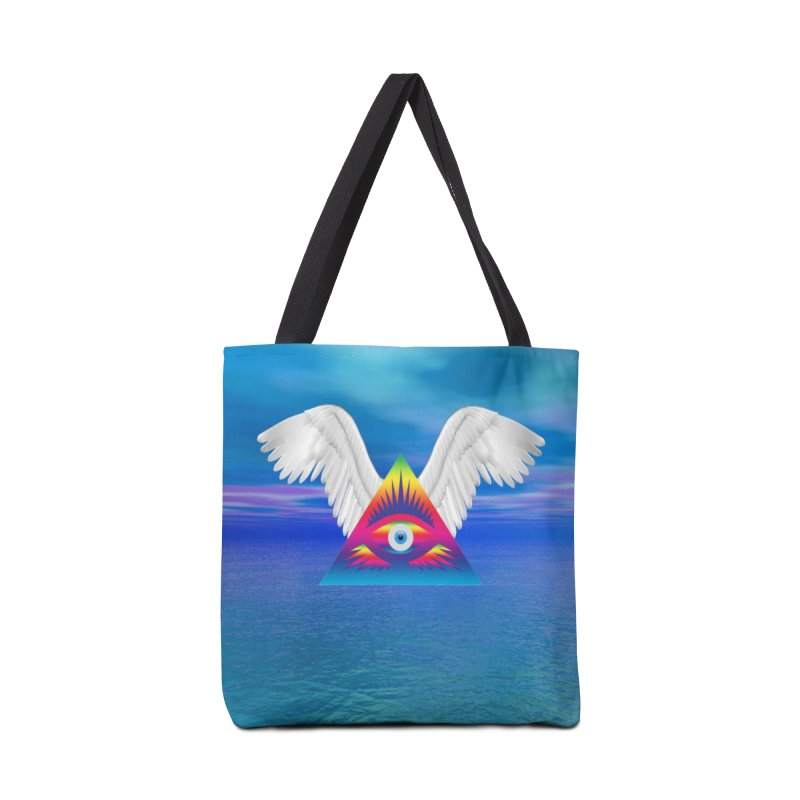 Third Eye with Wings Accessories Tote Bag Bag by Matthew Lacey-icarusismartdesigns