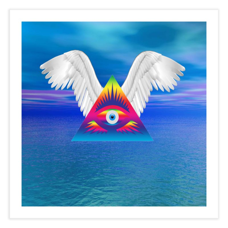 Third Eye with Wings Home Fine Art Print by Matthew Lacey-icarusismartdesigns